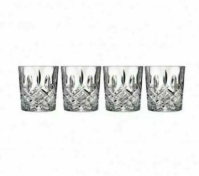 Marquis by Waterford Markham Double Old Fashioned set of 4 Crystal Glasses NIB