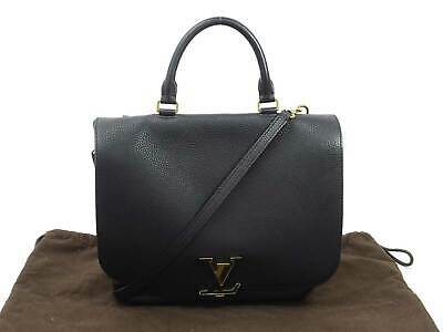 4dd365a2fdc0 Auth Louis Vuitton Taurillon Volta Handbag Shoulder Bag Black - 95635