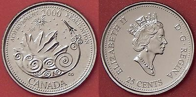 Proof Like 2000 Canada Archievement 25 Cents From Mint's Set