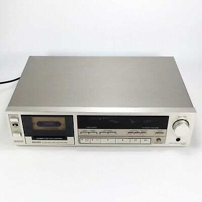 Denon DR-M44 Stereo Cassette Tape Deck 3-Head Direct Drive - Tested & Very Clean