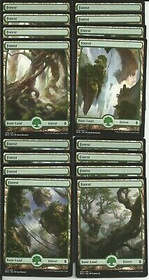 16x FOREST FULL ART  Basic Land- Battle for Zendikar - MTG Magic the Gathering