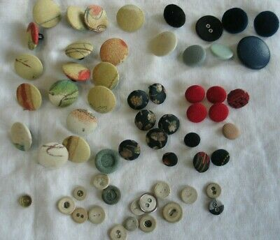 Fabric Covered Buttons 10 Count 14mm // 19mm // 28mm Letters Text Typography