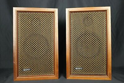 Pair Sony Vintage Speakers SS-510 Wooden  lovely warm sound from squonk.co