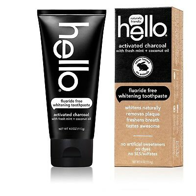 Hello Activated Charcoal Fluoride Free Whitening Toothpaste 4 Oz. Sale