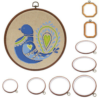DIY Bamboo Embroidery Cross Stitch Tapestry Ring Hoop Frame Sewing Tools Craft