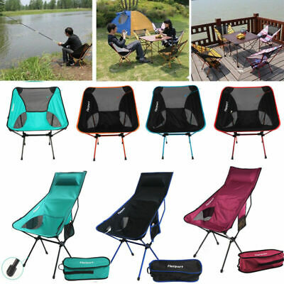 Lightweight Folding Camping Chair Festival Garden Foldable Fold Up Fishing Seat