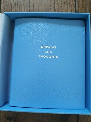 "New Smythson Pale Blue ""dreams and thoughts"" Notebook"