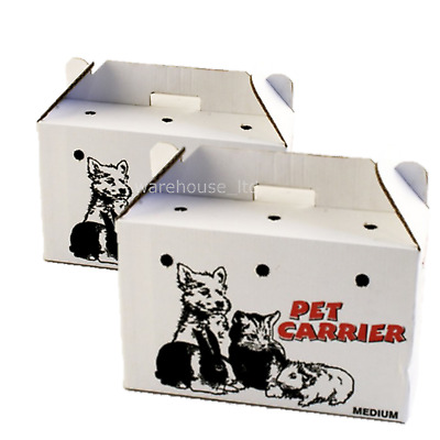 10 x PPI Cardboard Animal Carriers Medium or Large- Fast Del