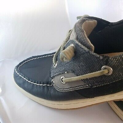 6dd4a2e278489 SPERRY TOP-SIDER WOMEN'S Ivyfish Waxed Black Boat Shoe 10M Casual & Trendy