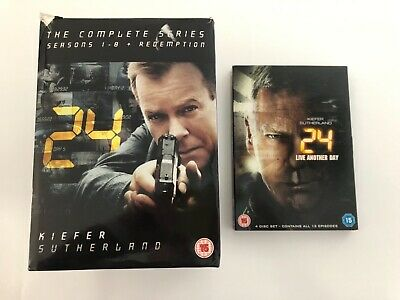 24 The Complete Series/Seasons 1-8 + Redemption DVD & 24 Live Another Day DVD