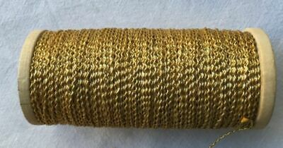 Vintage Gold Metallic Rococo Thread French