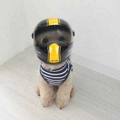 Puppy Cat and Dog Hat Helmet Small Pet Cool Fashion Outdoor Caps Motorcycle