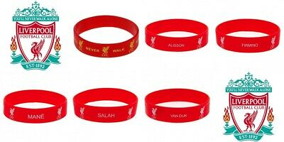 Official LIVERPOOL FC Silicone Wristband Allison Mane Firmino Salah Gift