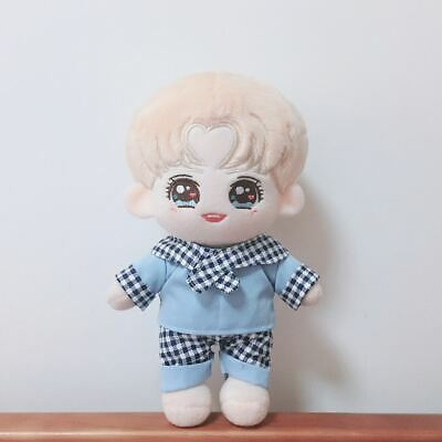 KPOP WANNA ONE Nct EXO Shinee BTS Doll's Clothes Lattice Set Blue Red【no doll】