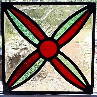 Hanging Stained Glass Panel / Suncatcher - Rescued and restored -   Ref 47