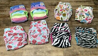 Goodmama One cloth Diapers Girls Twin Lot birth to toddler with covers