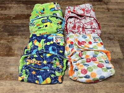 Goodmama One birth to toddler cloth fitted diapers one size with cover