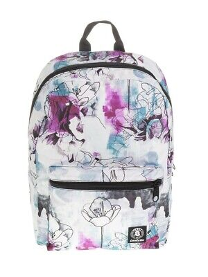 ZAINO PACKABLE backpack INVICTA morbido BIANCO richiudibile PAINT AND FLOWER car