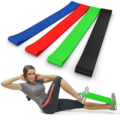 [Set of 4] Resistance Loop Bands Reliable Long-lasting Strength Home Gym Fitness