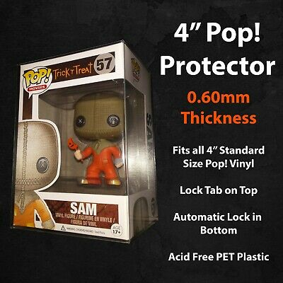 "3.75"" 0.60mm Thick Standard Size Funko Pop! Vinyl Protector Sealed in Plastic"