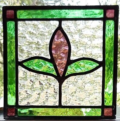 Hanging Stained Glass Panel / Suncatcher - Rescued and restored -   Ref 184