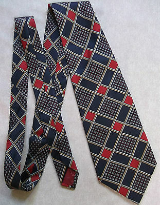 Vintage Tie Mens Wide Necktie Retro Fashion 1970s HARDY AMIES AT HEPWORTHS SILK