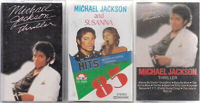 Michael Jackson  Lot De 3 K7 Cassettes Audio