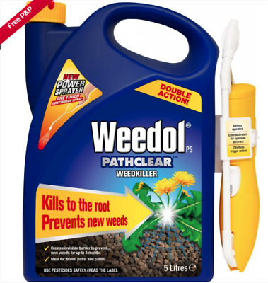2x Weedol Pathclear Weedkiller Power Sprayer Spray (2x 5L) **COLLECTION ONLY!***