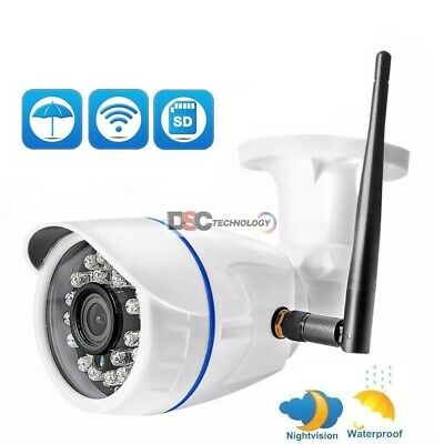Wireless WiFi Outdoor 720P 1.0MP/1080P 2.0MP IP Camera SD Card Slot ONVIF CamHi
