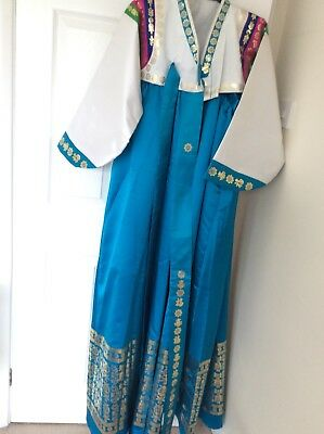 korean hanbok traditional dress Turquoise Size S/ M