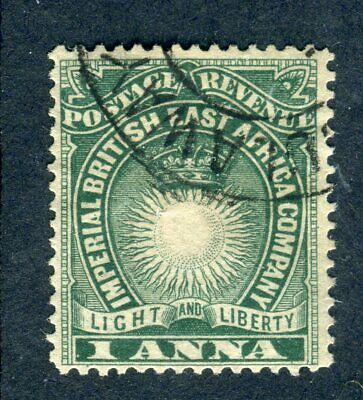 British East Africa/KUT 1890. 1a blue green. Used. BULAWAYO cancel. SG 5.