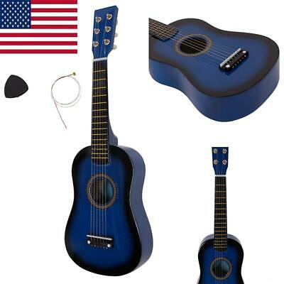 Mini 23 Inch Acoustic Guitar with Pick and Strings for Kids Beginners Music