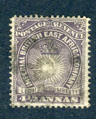 British East Africa/KUT 1890. 4 1/2a dull violet. Used. SG 11.