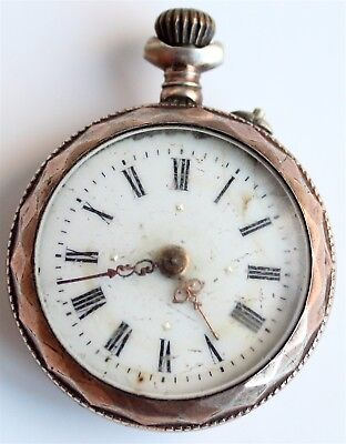 Silver - Small Antique - Pocket Watch - Swiss Made - Vintage - Rare