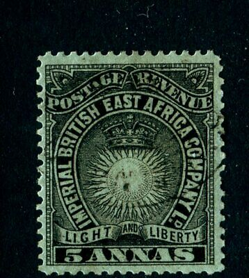 British East Africa/KUT 1895. 5a black/grey blue. Used. SG 29.