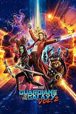 GUARDIANS OF THE GALAXY 2 - ONE SHEET MOVIE POSTER 24x36 - MARVEL COMICS 160859