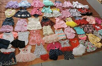 Girl Newborn 0/3 3/6 6/9/12Months Spring Summer Dresses Outfits Sets Clothes Lot