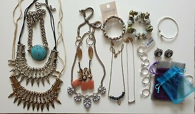 Costume Jewellery Mixed Lots Bundle Joblot Costume Jewellery  Necklaces/ Bracelets Bnwt