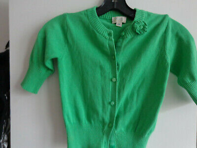 EUC The Childrens Place  Girls GREEN Shrug Sweater SIZE M 7/8 CUTE