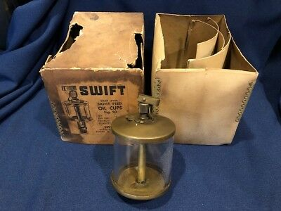 Antique Swift Snap Lever Sight Feed Oil Cup Hit Miss Engine Oiler USA Made