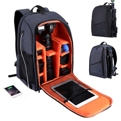 Travel Waterproof DSLR SLR Camera Bag Backpack Accessories For Canon Nikon Sony