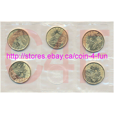 Rio 2016 - Canada - $1 Olympic Lucky Loonie (One Dollar) Circulation 5-Coin Pack