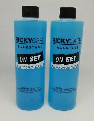 RICKYCARE Back Stage On Set Makeup Brush Cleaner 16oz each (Lot of 2)