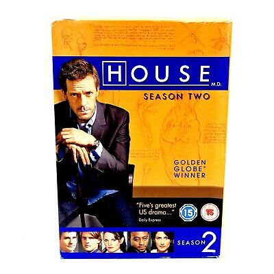 House Md Season Two 6 Dvd Box Set Mint Discs Watched Once Region 2 & 4 Cert 15