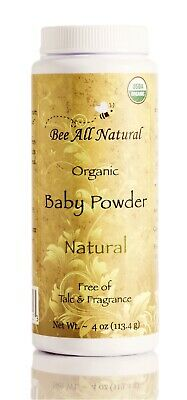 Bee All Natural Organic Baby Powder, Talc-Free, 4-Ounce Bottle New