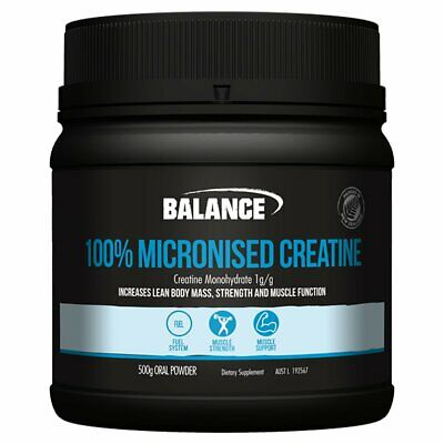 Balance 100% Micronised Creatine Monohydrate - Increase Body Mass And Strength