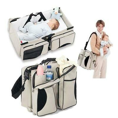 Baby Infant Travel Bassinet Diaper Tote Bag Nappy Changing Station S5DY 15