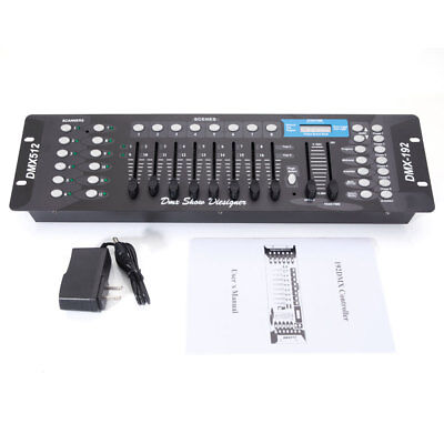 192CH DMX512 Stage Light Controller DJ Disco Party Lighting Console Operator