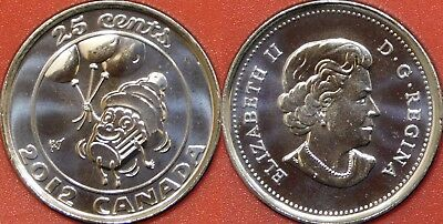 Proof Like 2012 Canada Birthday 25 Cents From Mint's Set
