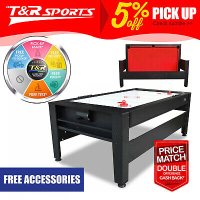 【XMAS SALE-UPTO 20%OFF】7FT 2-IN-1 Convertible Air Hockey Pool Table